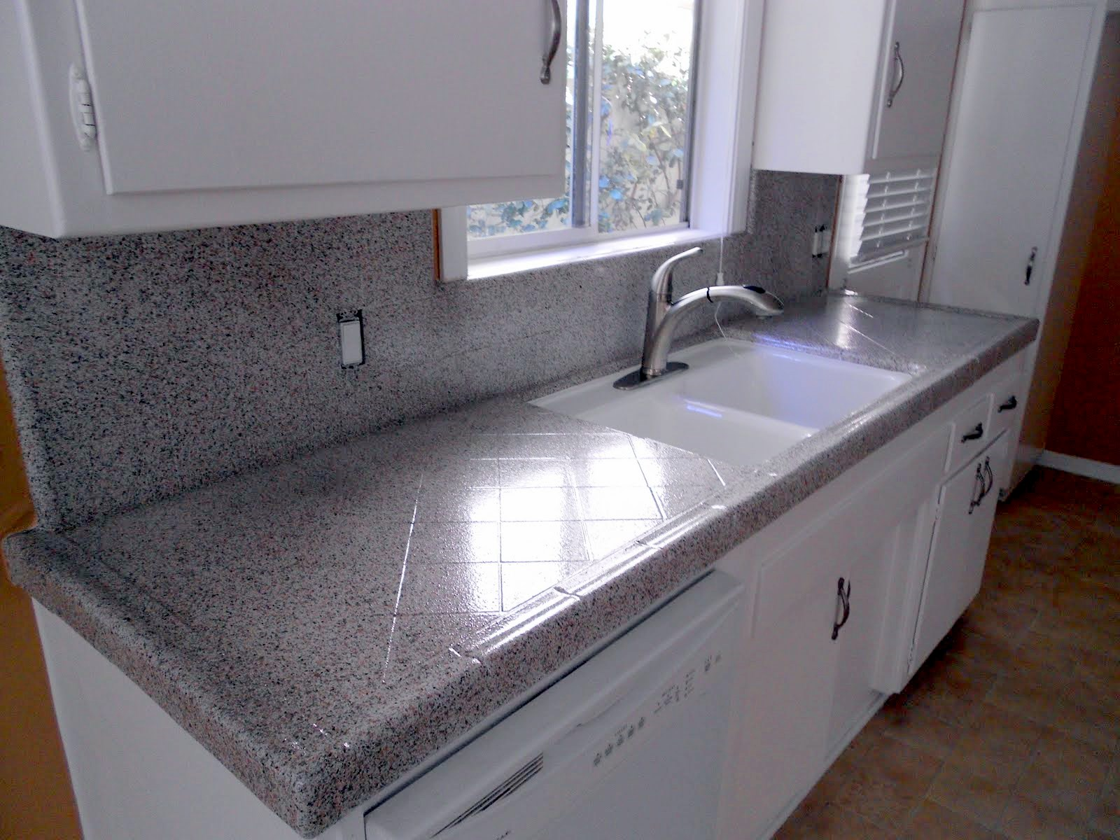 Kitchen Tile Countertop Bathtub And Countertop Refinishing