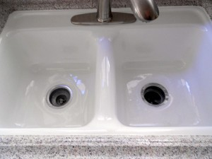 Kitchen Sink - After Reglazing, Refinishing