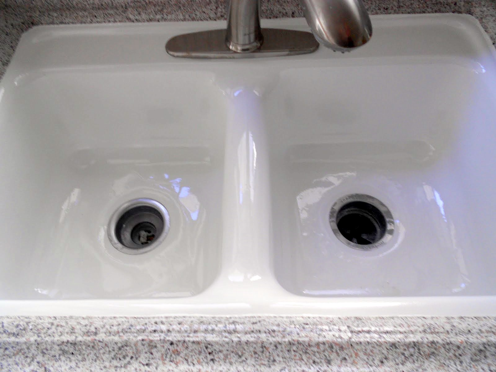 kitchen sink after reglazing refinishing. beautiful ideas. Home Design Ideas