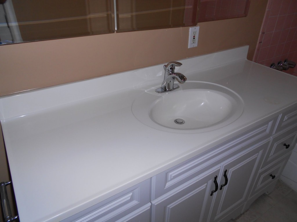 Vanity Countertop And Sink Reglazed
